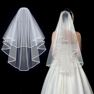 Ivory 2 layer veil